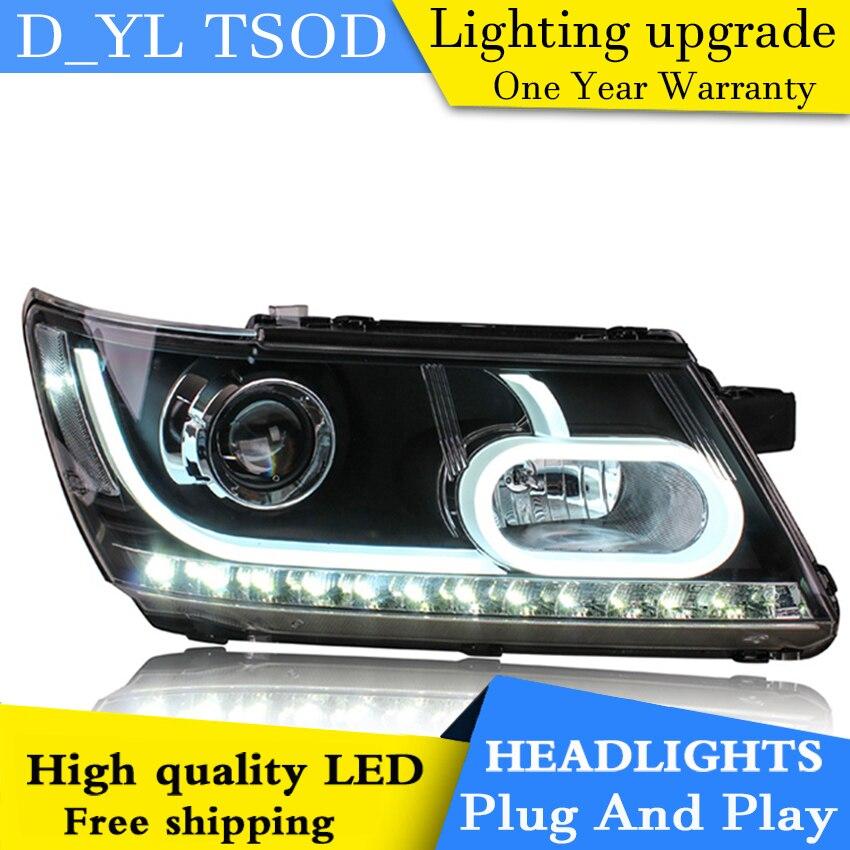 Car Styling Headlights for Journey 2009 2015 LED Headlight for Journey Head Lamp LED Daytime Running