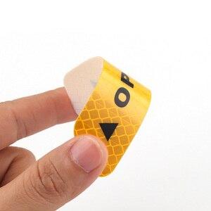 Image 4 - 4 adet DIY dış uyarı Sticker kapı güvenliği yansıtıcı uyarı çıkartmalar araba çıkartması 4 renk güvenlik işareti araba dış çıkartmalar