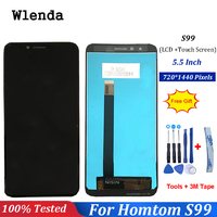 For Homtom S99 LCD Display And Touch Screen Assembly Repair Parts 5.5 Inch Replacement +Tools+3M Tape