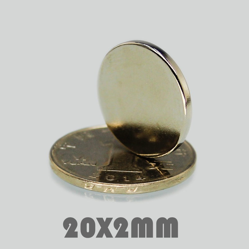 10 30 100P 20x2 mm Neodymium Magnet Strong Round Magnet N35 20 2 mm Search Magnet Rare Earth Magnets For Crafts Gallium Metal in Magnetic Materials from Home Improvement