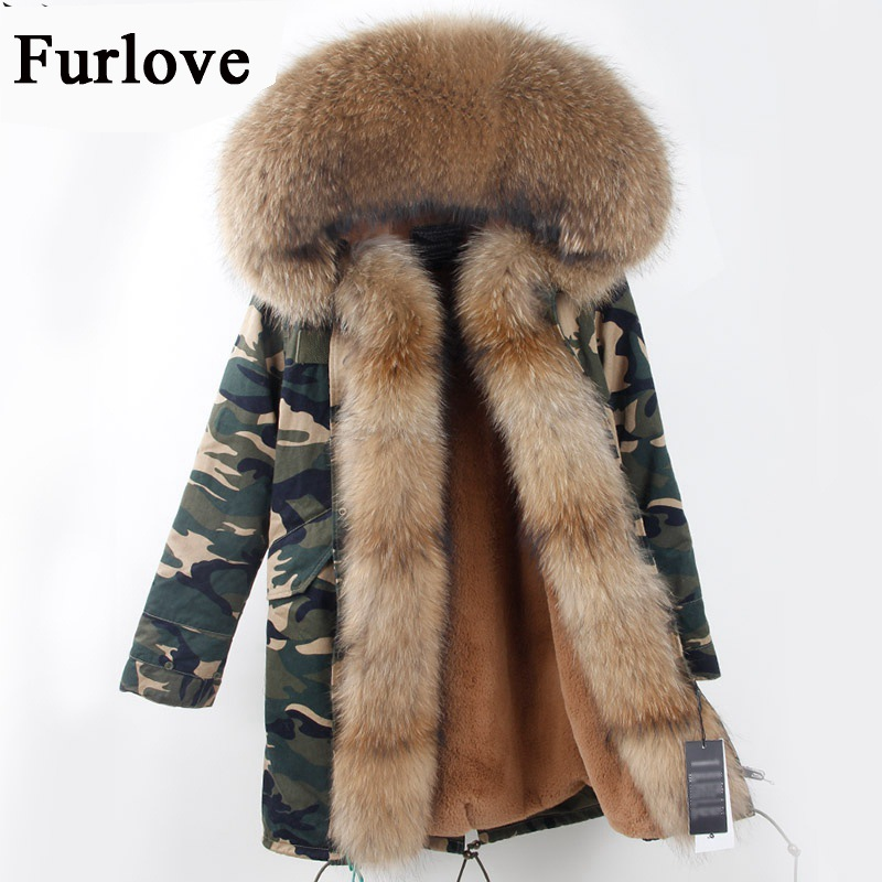 Womens Winter Jacket Women Coat Warm Jackets Real Raccoon Fur Collar Hooded Coats Thick Fur Parka Black Parkas DHL free shipping red stripe fur inside male coats winter wear keen warm elegant real raccoon fur collar cashmere fur parka