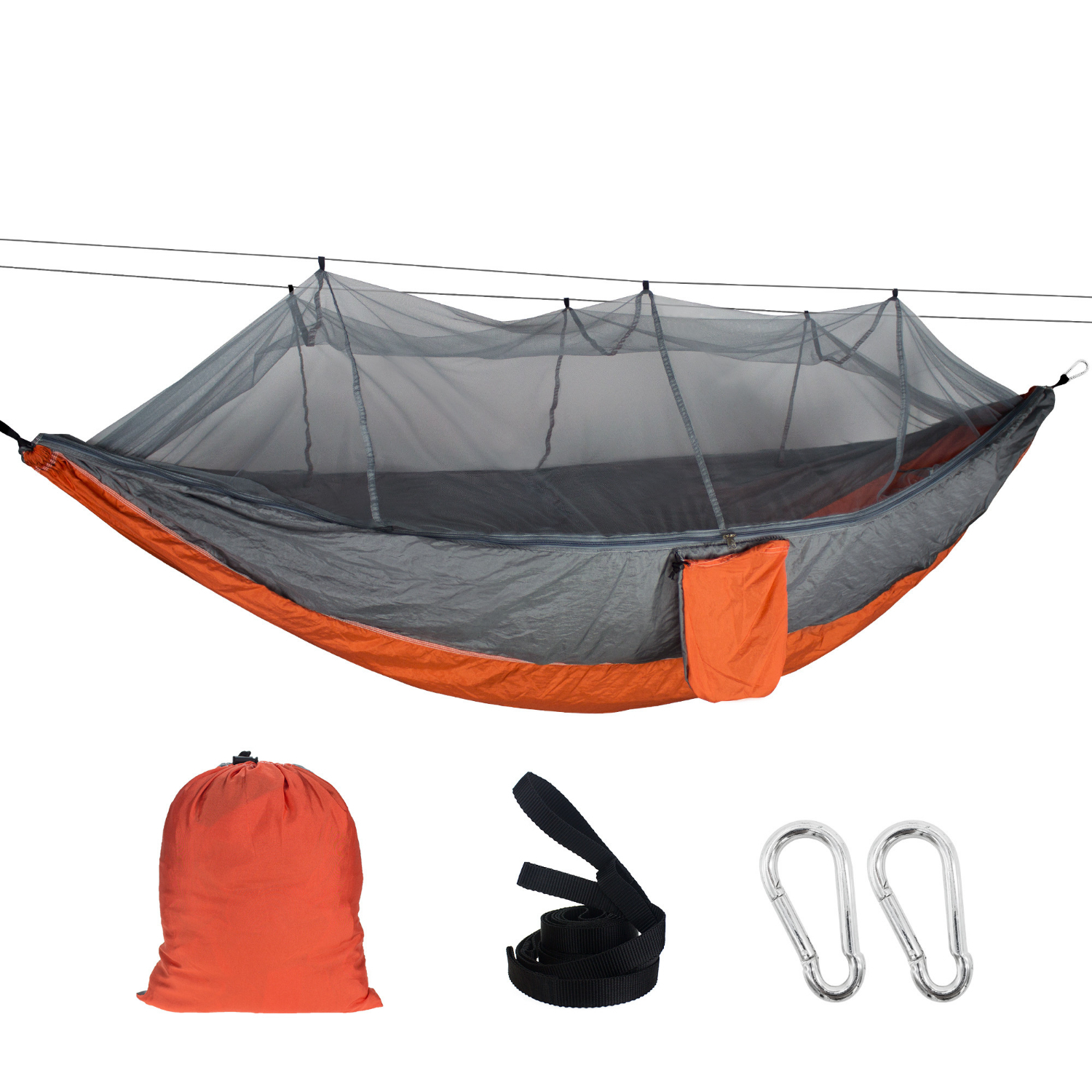 102*55'' Outdoor Mosquito Net Hammock 1-2 Person Hanging Sleeping Bed For Camping Backpacking Travel Beach 260x140CM Hamak