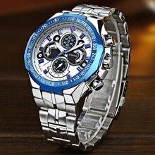 メンズ腕時計トップブランドの高級 WWOOR ファッションビッグダイヤル男性の腕時計ステンレス鋼の男性腕時計リロイ hombre 2019