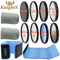 KnightX camera FLD UV CPL Star Filter Line set Lens Cap Cover for nikon d3200 d5200 d5100 d3300 d3000 d3100 Canon EOS 400D D3000