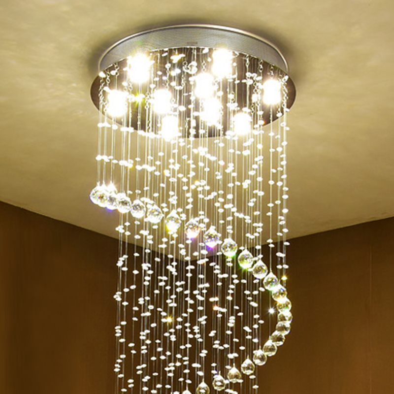 Modern retro Europe style crystal lustre Ceiling Lights GU10 Plafonnier LED ceiling Lamp For Living Room