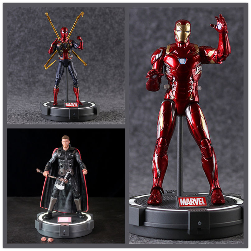 Model-Toys Action-Figure Avengers Thor Black Panther Iron Man Captain-America Spider-Man