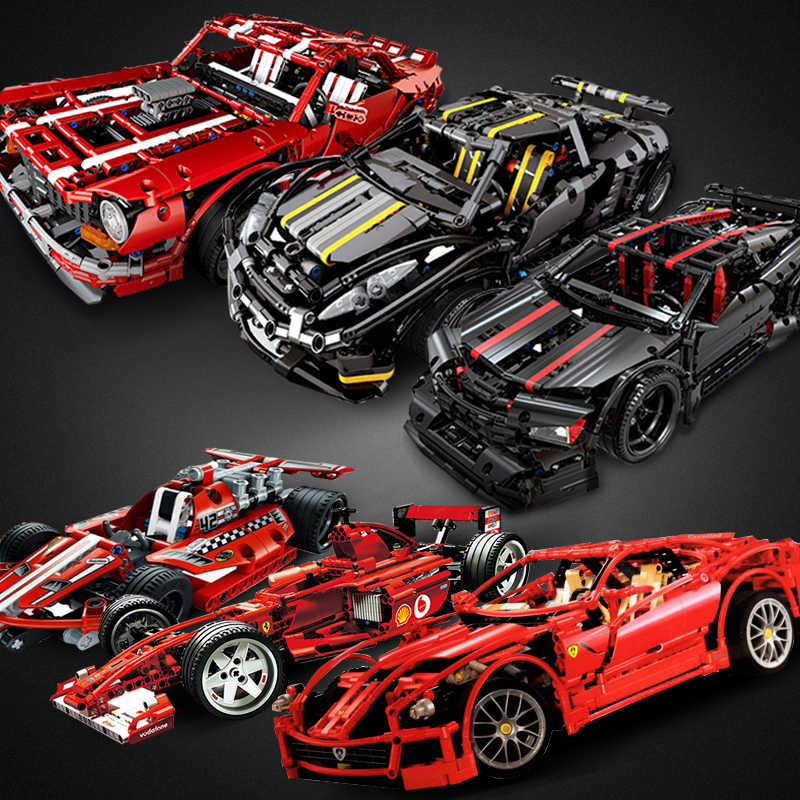 Decool Compatible legoed Technic Car Racer MOC sets model building kits blocks DIY kids toys for children bricks muscle supercar