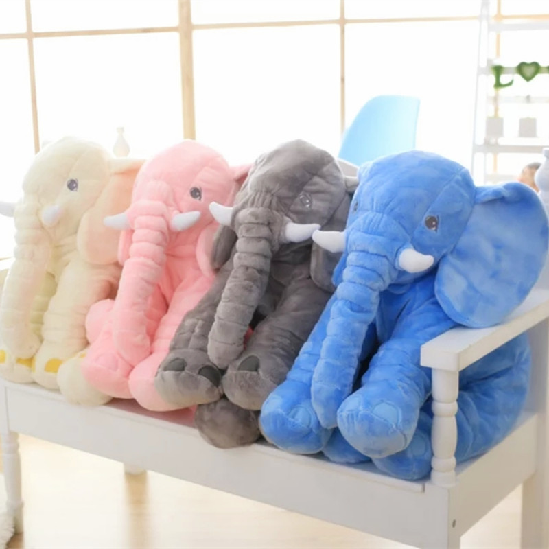 40cm 60cm Height Large Plush Elephant Doll Toy Kids Sleeping Back Cushion Cute Stuffed Elephant Baby Accompany Doll Xmas Gift in Stuffed Plush Animals from Toys Hobbies