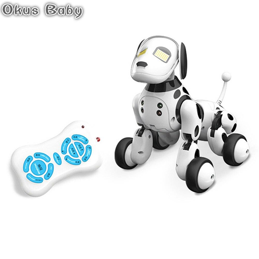 Brand New 2.4g Sans Fil Télécommande Robot Intelligent Chien Enfants Jouet Intelligent Parler Robot Jouet Pour Chien Électronique Pet D'anniversaire cadeau