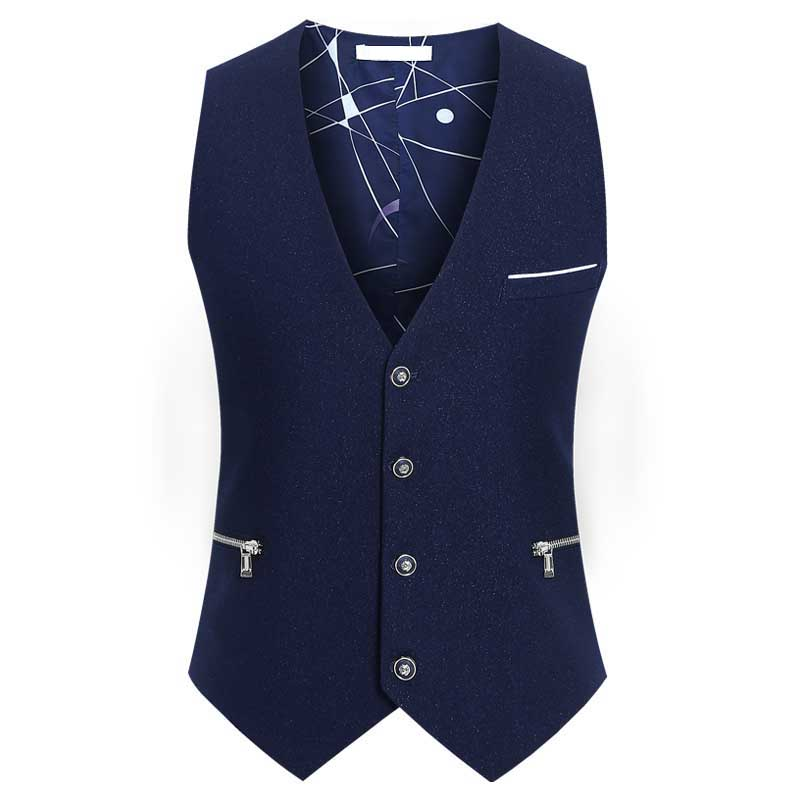 New Fashion Men Suit Vest 4 Button British Sleeveless Jacket Business Vest Casual Waistcoat Thin for Summer Autumn Big Size 6XL in Vests from Men 39 s Clothing
