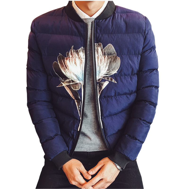 Подробнее о Men Parka New Fashion Winter Jacket Thick Warm Men's Coat Casual Printed Slim Coats for Men Zipper Male Outwear Plus Size 4XL winter jackets men s warm casual thick outwear slim fit brand clothing male coats down jacket fur hooded plus size 4xl 5xl x486
