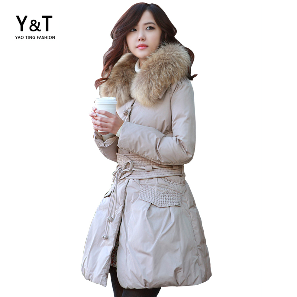 Brand Fur Collar Parka Winter Jacket Women Coat Big Size Ladies Female Long Warm Womens casacos  -  Yaoting trading co.,Ltd store