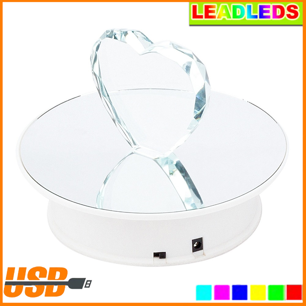 20CM Mirror Surface Samsung iphone Display Electric Motorized Rotating Display Turntable for jewelry Toys Automatic rotation