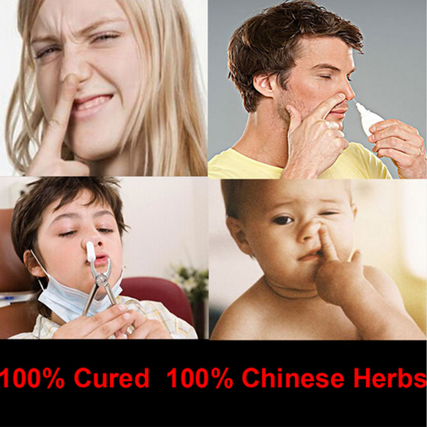 Chinese Medicine Treatment Rhinitis Spray Sinusitis Nasal Congestion Itchy Runny Nose Allergic Rhinitis Spray image