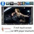 Сенсорный экран универсальная 2 din 7 дюймов для камеры заднего вида автомобиля mp4-mp5-плеер стерео fm-usb в-dash китайский английский язык