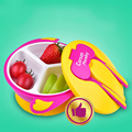 Best Selling Lovely Baby Bowl Suction Cup Bowl Baby Feeding Dishes Children's Tableware Spoon Fork Set Baby Lunch Box C01