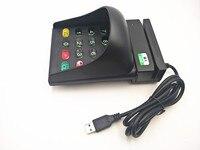 Faixa bidirecional 2 da listra do leitor de código de barras do cartão magnético universal de usb com teclado do número capa anti roubo de usb|Leitores de cartão| |  -