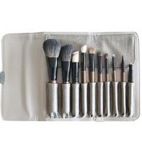 Pro 10pcs Makeup Brushes Set Make Up Brushes animal Hair With PU Leather
