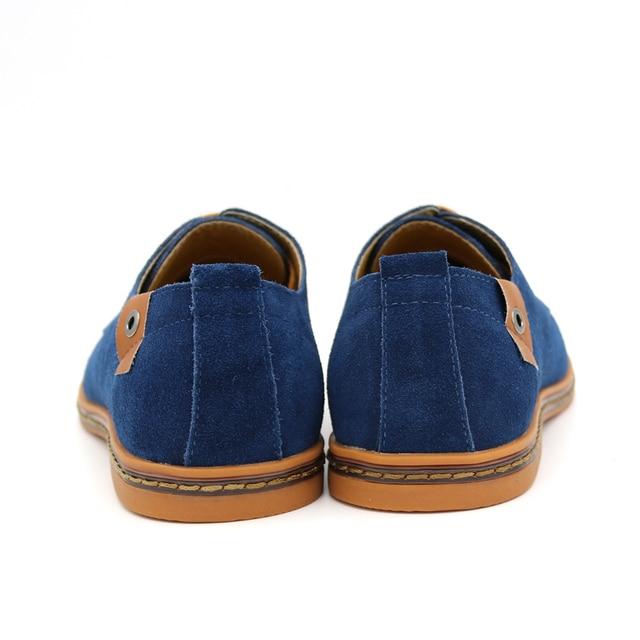 BIMUDUIYU Brand Minimalist Design Genuine Suede Leather Men Casual Shoes Hot Sale Flat British Style Oxford Shoes Big Size 38-48