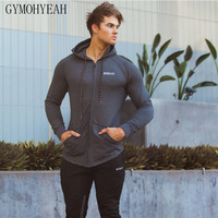 gymohyeah 2017 New mens fashion zipper hoodie cotton mens sweatshirts men hip hop hoodies High quality hoodie free delivery