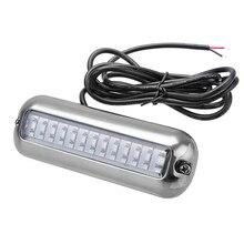 Luz de cruce de barco pontón sumergible de 39 LED de 5,2 W, 12 V, cubierta impermeable azul blanca para yate o barco marino 316SS
