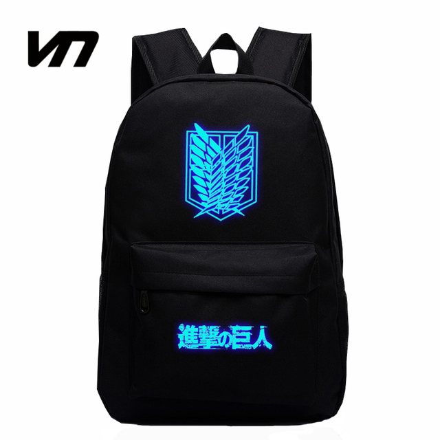2016 Hot Sale Attack on Titan Bag Japan Anime Printing Backpacks For Teenagers School Student Bag Fans Best Collection Souvenirs