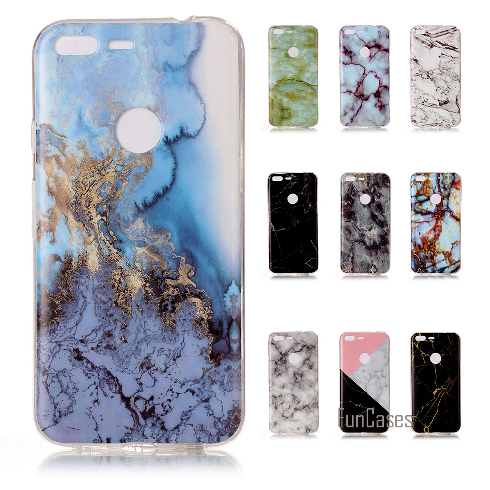For Google Pixel / Pixel XL Soft TPU Phone Case For Google Pixel Granite Scrub Marble Stone Image Painted Back Cover