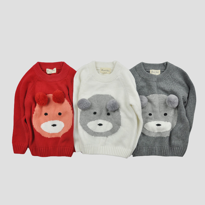children sweaters new brand winter bear head cartoon baby boys girls  pullovers toddlers knit sweater kids tops child clothing-in Sweaters from  Mother   Kids ... 45f0a4407