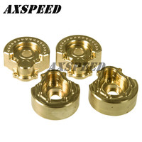 1 Pair weight block A style Brass Counterweight Steering Block Wheel Knuckle Axle Balance Weight for 1/10 RC Traxxas TRX4