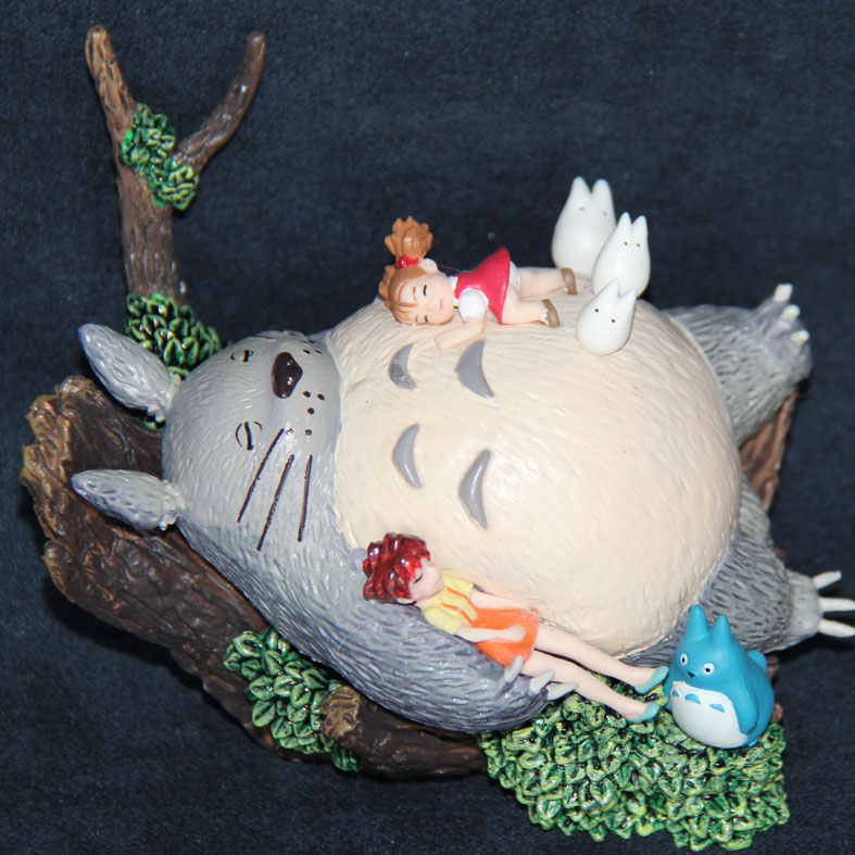 100% Original Japanese anime figure Hayao Miyazaki Totoro PVC Action Figure Toy collection kids toys for birthday gift lps toy pet shop cute beach coconut trees and crabs action figure pvc lps toys for children birthday christmas gift