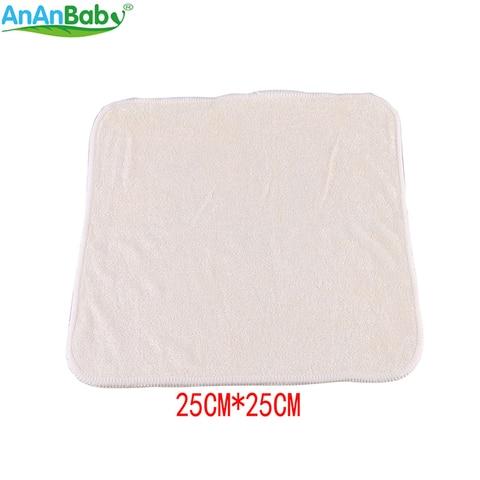 ananbaby 100 bambu respiravel super macio toalhetes de limpeza toalha reutilizavel bebe toalhetes tamanho 25cm