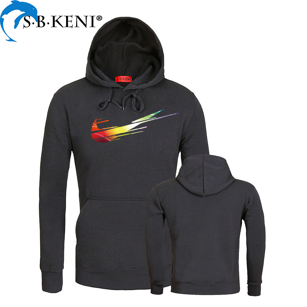 Gradient Color JUST DO IT Hoodies Cotton Polyester Funny Print Hoodie Man/Women Fashion Brand Clothes Casual Sweatshirt Fortnite