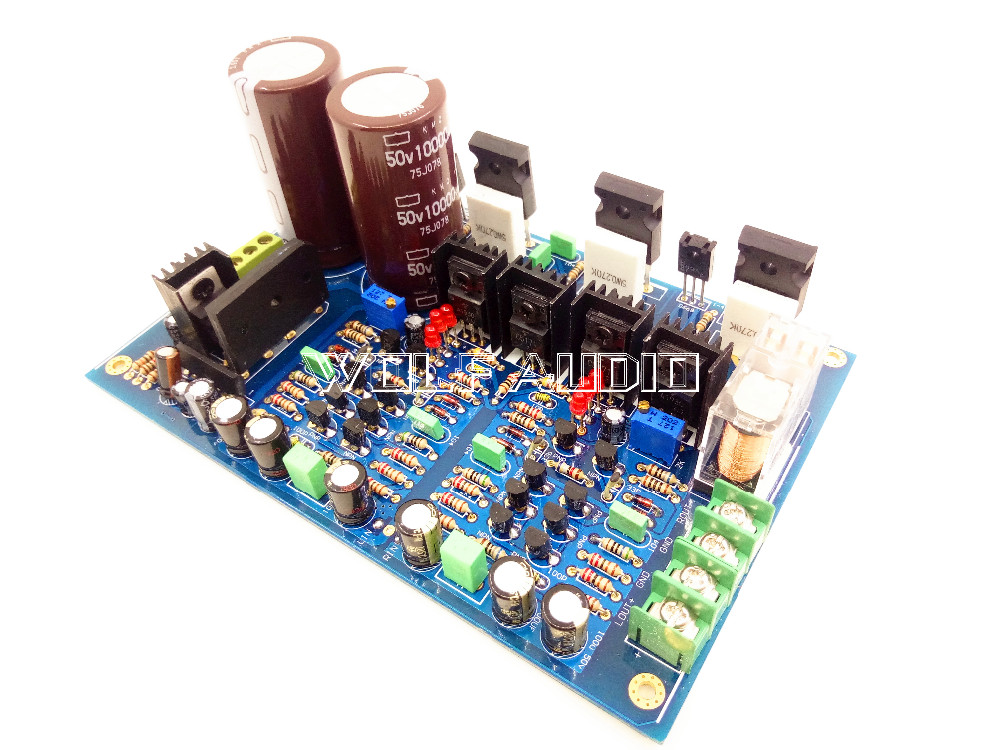 120W+120W IRFP240 IRFP9240 Full Symmetric Dual Differential FET Amplifiers Board 2 pcs channel assembled l15 power amplifier finished board irfp240 irfp9240 fet with angle aluminum