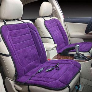 Image 4 - カー温水シートクッション 12 12v ヒーターカバー電気加熱された席車暖かいシートクッション