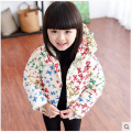 Winter children's clothing child jacket baby girl cotton-padded jacket  thickening coat with a hood outerwear