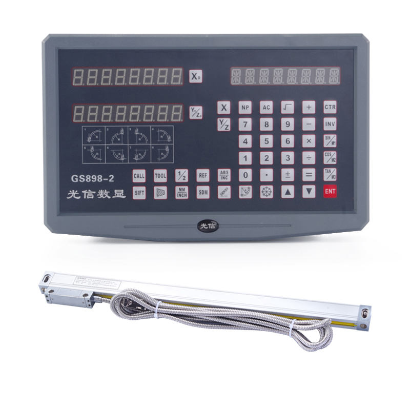 DRO 2 Axis 3 digital readout with 0~3PCS 0~1000mm linear scale encoder For Milling lathe drill machine grinder