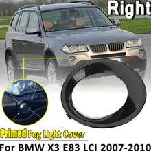 안개등 커버 BMW X3 E83 LCI 2007 2010 크롬 헤드 앞쪽 안개등 램프 커버 트림 안개 조명 램프 그늘 프레임 액세서리