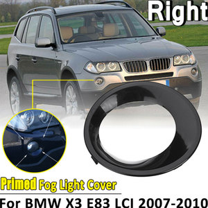 Image 1 - Fog Lamp Cover For BMW X3 E83 LCI 2007 2010 Chrome Head Front Foglight Lamp Cover Trim Fog light Lamp Shade Frame Accessories