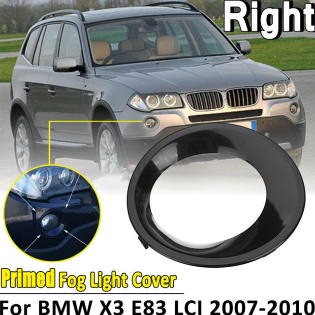 Fog Lamp Cover For BMW X3 E83 LCI 2007 2010 Chrome Head Front Foglight Lamp Cover Trim Fog light Lamp Shade Frame Accessories
