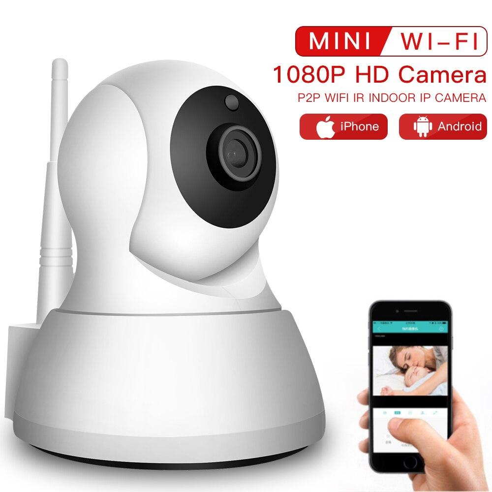 SDETER inalámbrico Cámara mascotas 1080 p WiFi cámara IP CCTV cámara de seguridad P2P noche visión Monitor de bebé interior 720 P Cam
