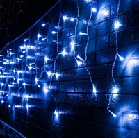 Led Curtain Icicle String Lights 220V Connectable Xmas Lights Indoor/Outdoor Garland Party Wedding Decor 4M Drop 0.6M