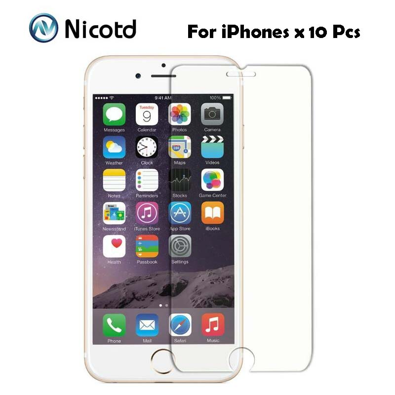 Pcs Lot mm H D Tempered Glass for iPhone s c s
