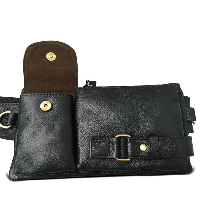 La MaxZa Äkta Läder Waist Packs Fanny Pack Bälte Väska - Bälten väskor - Foto 2