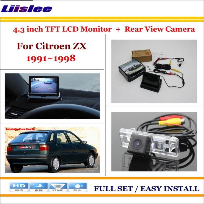Liislee For Citroen ZX 1991~1998 Auto Rear View Camera Back Up + 4.3 LCD Monitor = 2 in 1 Parking Assistance System