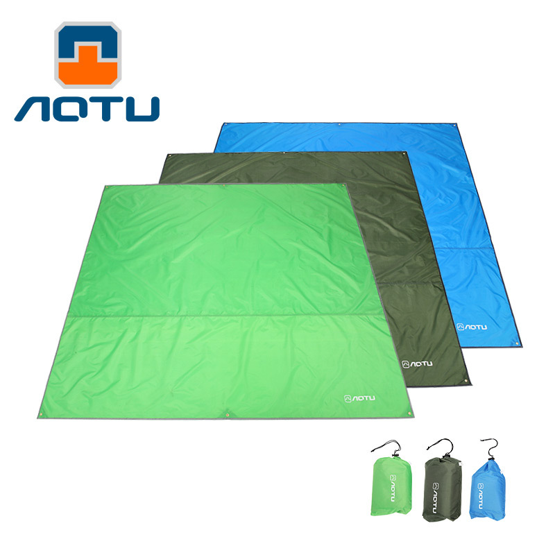 Multi function picnic mat Sunshade waterproof picnic cloth sun screen Oxford outdoor camping mat sand free beach mats