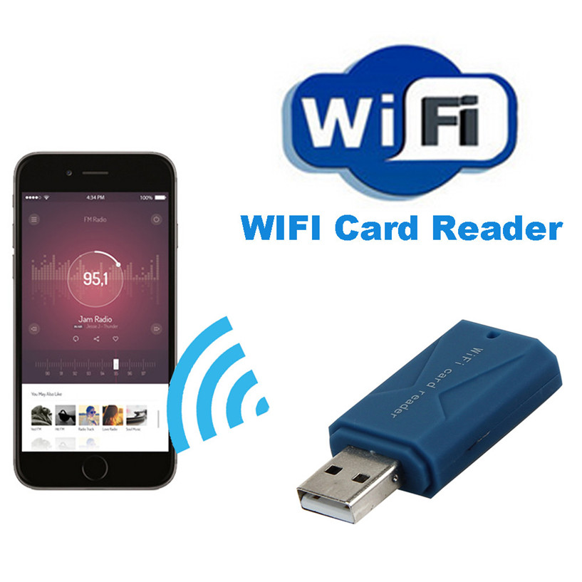 Wireless WiFi font b Disk b font USB SD Hard Drive Storage Adapter For iPhone For