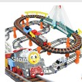 Free shipping christmas gift for children Single-layer Train track set electric train toys for children