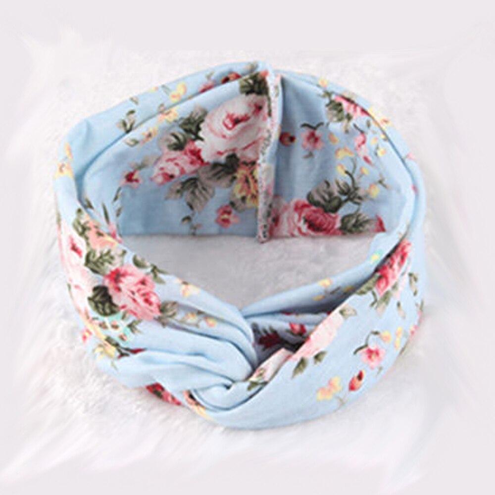 Newborn Cotton Flower Cross Headband Hair Accessories For Girls Turban Elastic Hairband Head Wrap Striped Headwear F288