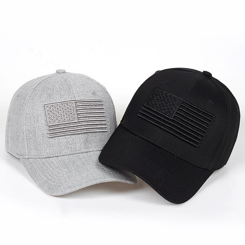 b45e1c81b High Quality Cotton Outdoor Baseball Cap Raised Flag Embroidery Snapback  men women Fashion Sports Hats Caps Bone Garros