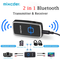 Mixcder TR007 Wireless Bluetooth Transmitter Receiver 2 in 1 Audio Adapter 3.5mm Aux Audio with USB Cable for Speaker TV PC